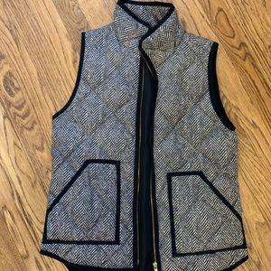 JCrew Herringbone puff vest